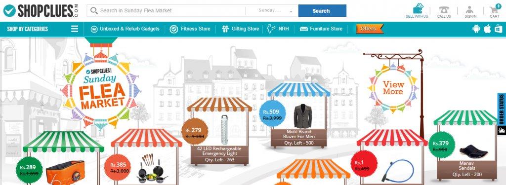 Shopclues A/B Test Control Screenshot