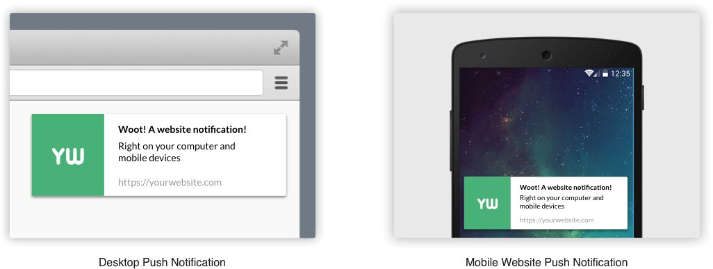Website and Mobile Push Notifications