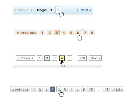 Pagination examples