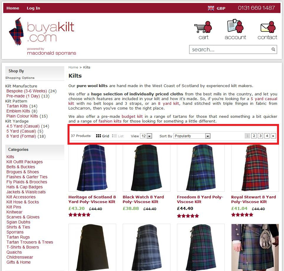 Removing sub-categories from product page and adding filter criterias - Case Study