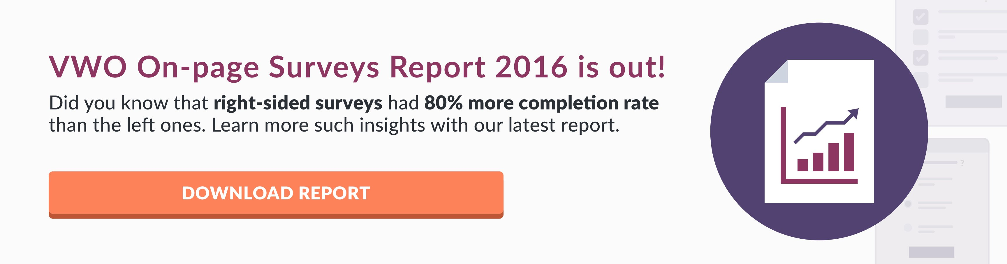 VWO On-Page Surveys Report 2016 CTA