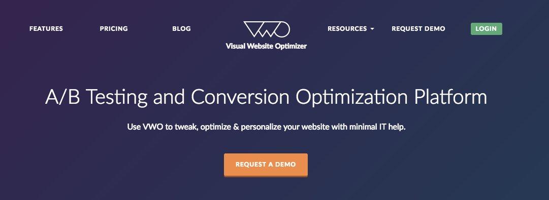 Homepage variation
