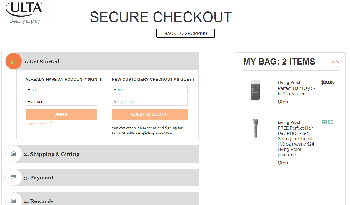 Optimize your checkout page for increased website conversion rate.