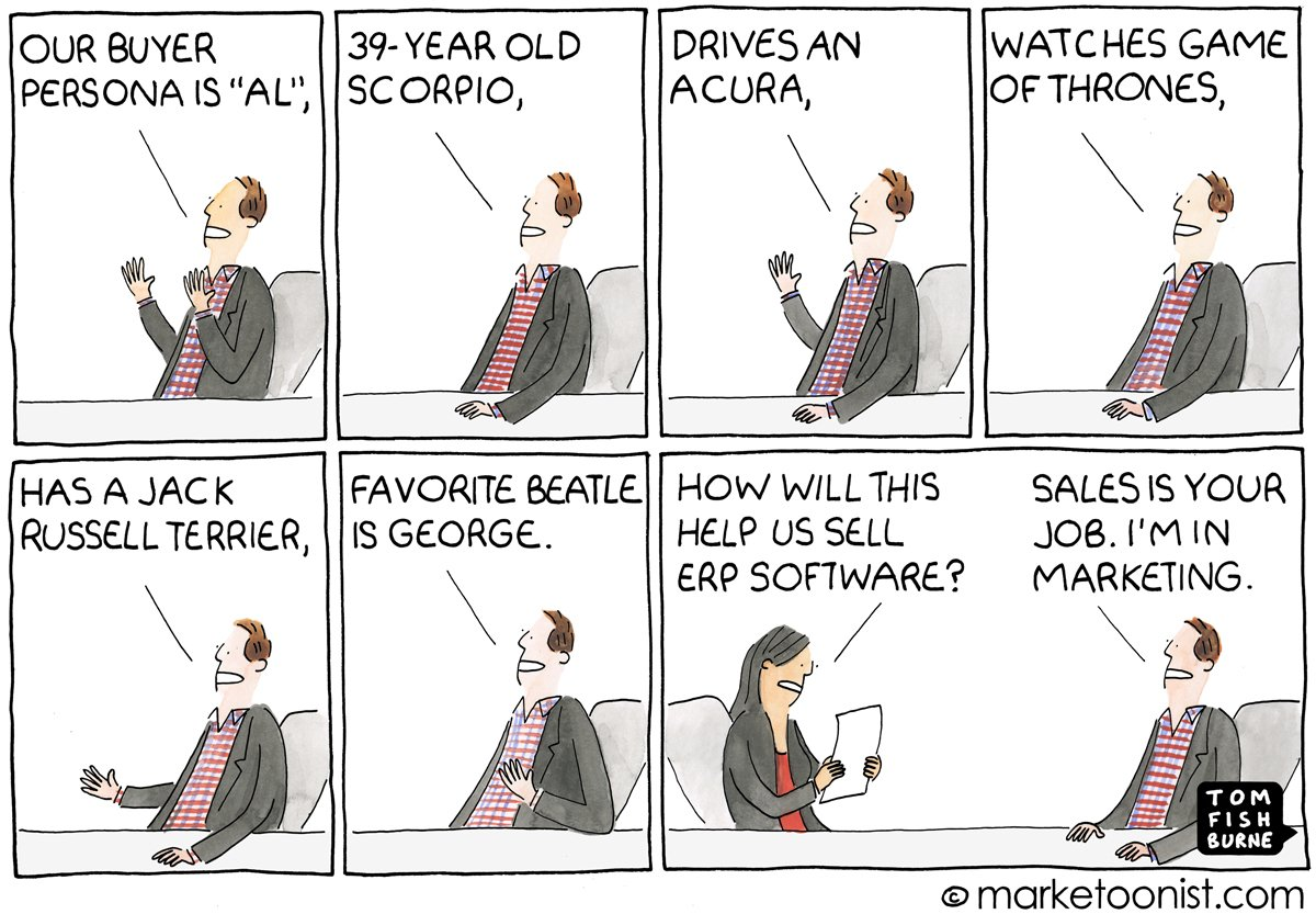 Sales and Marketing Persona comic