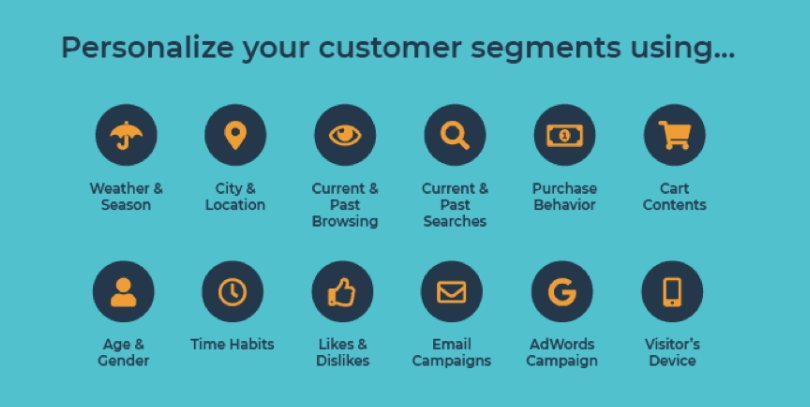 how to personalize customer segments in apps