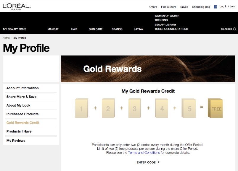 personalized rewards based on shopping behaviour