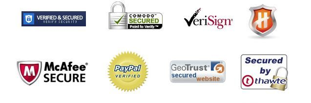 Examples of Trust Seals and Security Certificates