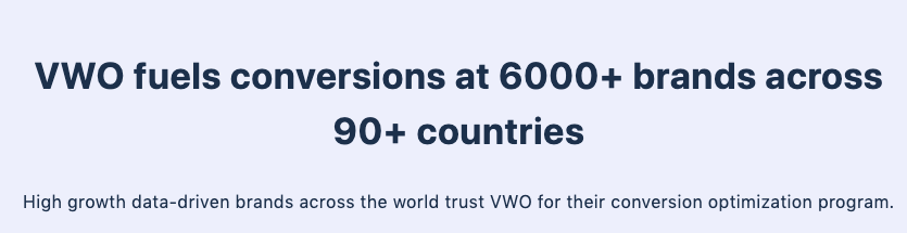 CRO Journey of the VWO Customers